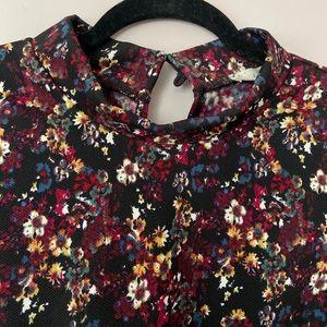 Lush Dresses - Black Floral Mini Dress. NEVER WORN.